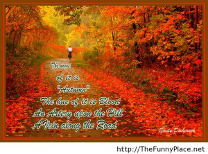 Autumn quote with image awesome - Funny Pictures, Awesome Pictures ...