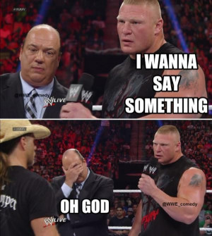 ... Funny, Wwe Funny, Pw Wrestling, Wwe Memes, Wwe Quotes, Memes Funny Gif