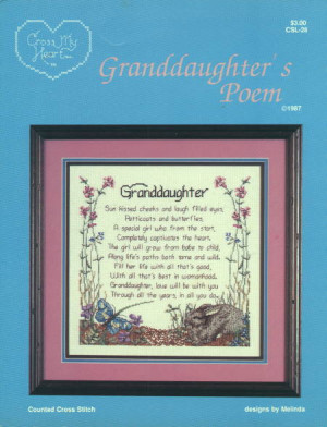 poem for the granddaughter in your life.