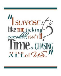 ... Print JM Barrie's Peter Pan Time Quote by HaveYouBeenThere, $18.00