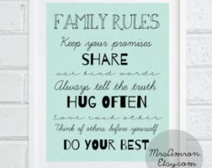 Print 8x10 - family print / family quote print / art print / wall ...