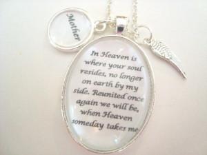 ... , Remembrance Jewelry, Memorial Jewelry, Heaven Quote, original poem