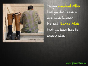 Thanks instead of Complaining Allah