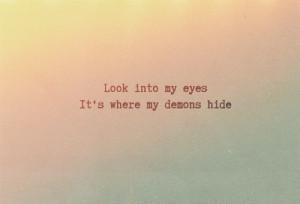 demons, imagine dragons, lyrics, quote, song
