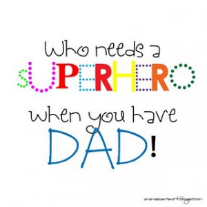 Super Hero Dad Card