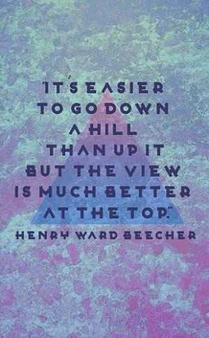 Keep climbing...!