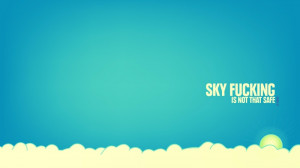 blue clouds sun minimalistic quotes 1920x1080 wallpaper Nature Clouds ...