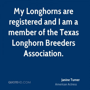 My Longhorns are registered and I am a member of the Texas Longhorn ...