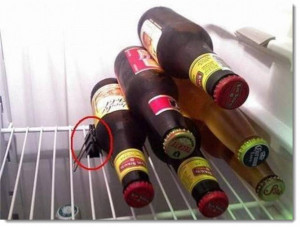 Beer stocking prep for Super Bowl Sunday, redneck-style