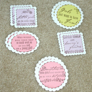 Sweet Baby Girl Sayings Hand stamped sweet baby girl