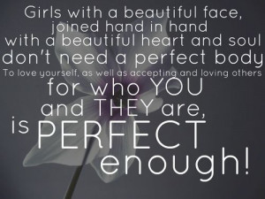 Girls, you are beautiful!