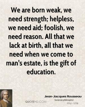 Jean-Jacques Rousseau Education Quotes