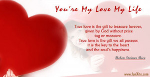 You Are My Love My Life , Love Cards