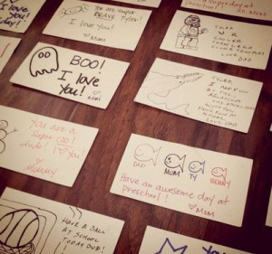 lunch box notes for your kids!