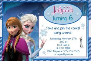 frozen birthday invitations diy