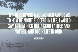 Wilbur Wright Ohio Quote