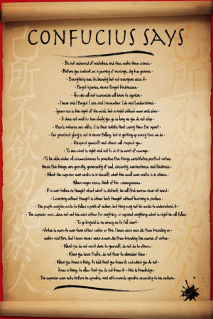 ... -POSTER-Confucius-Says-Great-Quotes-Motivational-BRAND-NEW-Licensed