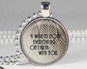 Book Quote Charm - The Great Gatsby - F. Scott Fitzgerald ...