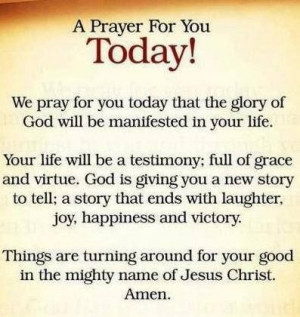 Prayer For You Today