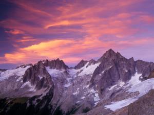 ... Over Eldorado Peak at Sunset, North Cascades National Park, Washington