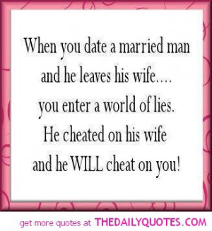 Disadvantages of Dating a Married Man