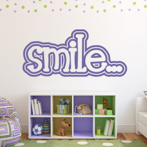 Smile-Wall-Stickers-Life-Inspirational-Wall-Quotes-Wall-Art-Decal ...