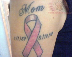 Breast Cancer Memorial Tattoo Neck