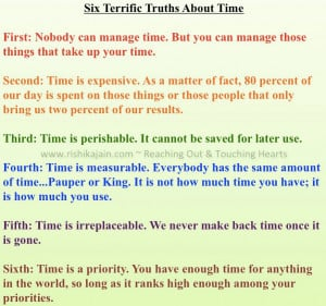 Terrific Truths about Time ~ Inspirational Quotes
