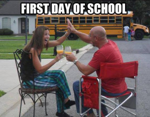 ... Funny Pictures // Tags: Funny pictures - first day of school // August