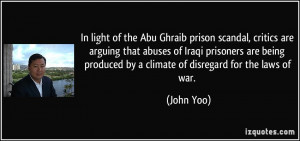 prison scandal, critics are arguing that abuses of Iraqi prisoners ...