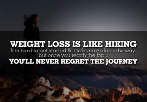Weight loss is like hiking