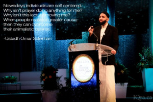 It was a morning session with Dalia Mogahed and Professor Tariq