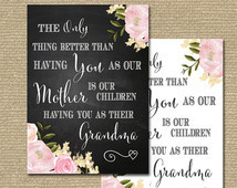 Mother's Day Gift grandma nanny Unique printable print Grandmother ...