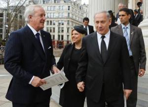 Former prime minister Brian Mulroney, left, Israeli Prime Minister ...