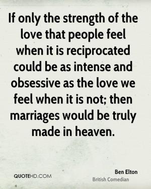 Ben Elton Marriage Quotes