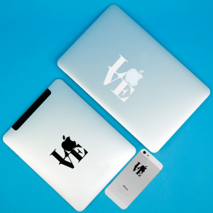 ... your Apple - inspired by Robert Indiana - Quote - Set of Laptop Decals
