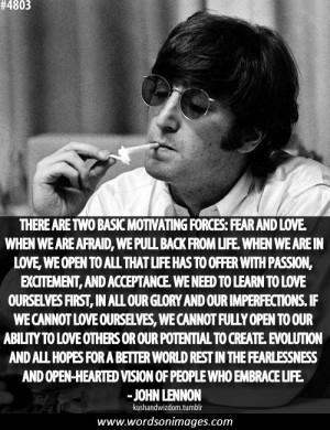 Love quotes john lennon