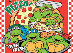 Gutsy TMNT fans try to eat all of Michelangelo's bizarre pizzas