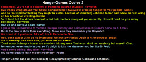 Hunger Games Quotes 2 by black0nat