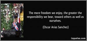 More Oscar Arias Sanchez Quotes