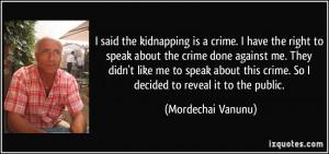 Said The Kidnapping Crime...