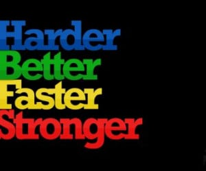 music daft punk quotes text only kanye west harder better faster ...