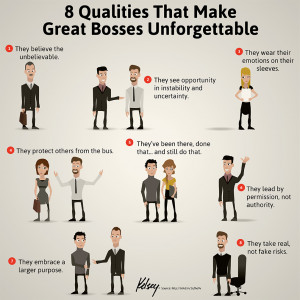 Qualities That Make Great Bosses Unforgettable [Infographic]