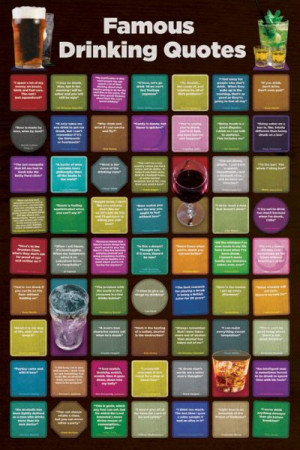 Famous Drinking Quotes - Maxi Poster