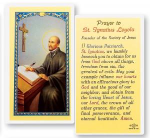 St. Ignatius Loyola Laminated Prayer Cards 25 Pack - Full Color