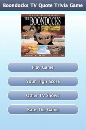 View bigger - Boondocks TV Quote Trivia Game for Android screenshot