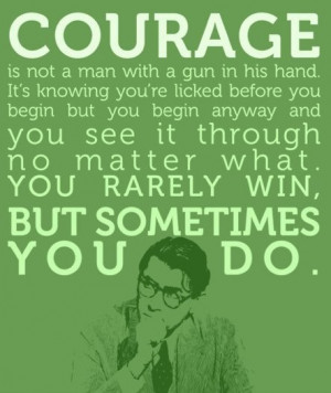 Atticus Finch quote from the novel,