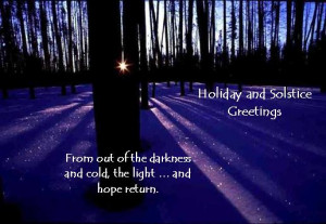 Happy winter solstice and Hanukkah