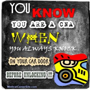 You always knock on your car door before unlocking it