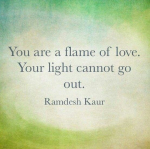 Flame of love quote